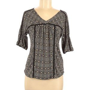 Lucky Brand Short Sleeve Geometric Small Top NWOT